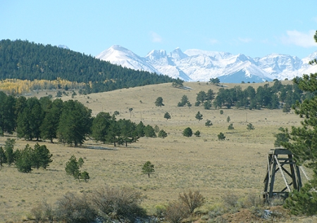 A view of the Sangre de Cristo range from Bear Basin Ranch in the Wet Mountains.
